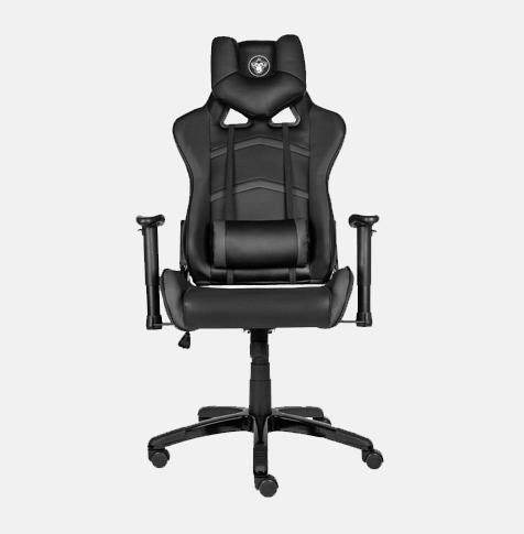Fotel SMG-400 dla gracza pokryty czarną skórą