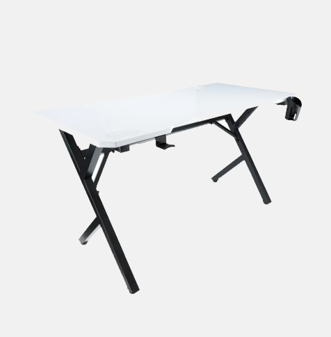 Białe biurko gamingowe GD-140